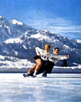 Pairs figure skaters at 1956 Winter Olympics