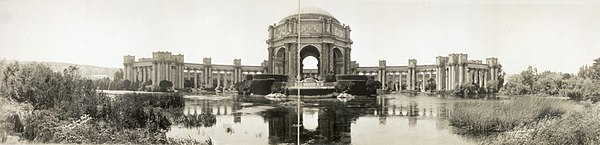 Palace of Fine Arts fotografert i 1919
