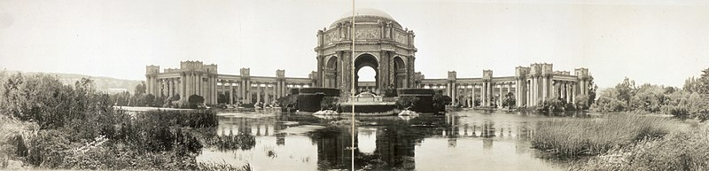 A Panorama Of The Palace Fine Arts C 1919 Cur Building Was Rebuilt In 1960s And Then Seismically Retroed After Damage From 1989 S Loma