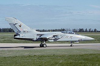 RAF Leuchars - Panavia Tornado F.3 of No. 43 Squadron, seen in 1993.
