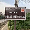 Panneau de l'allée Pierre Bretonneau (Saint-Herblain).jpg