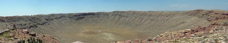 Barringer Meteorite Crater, Flagstaff, Arizona, United States.