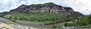 Vardzia - Vardzia cave monastery (panorama)