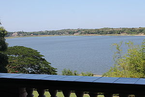 Paoay Lake - The lake as seen from the Malacañang of the North