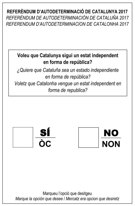 Papeleta Referendum 2017