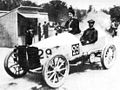 Paris-Madrid 1903 - Camille du Gast pilots her 30 hp De Dietrich, with starting number 29.jpg