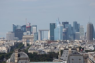 La Défense - Skyscrapers of La Défense seen from the Saint-Jacques Tower in central Paris