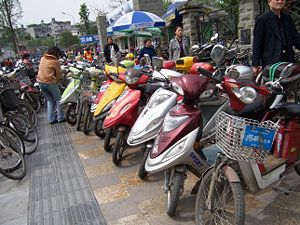 Parking Electric Scooters @ Chengdu