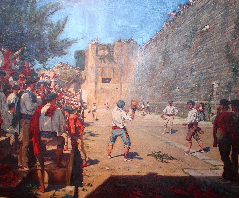 Partie de pelote sous les remparts de Fontarabie