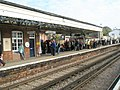 Passengers on the up platform waiting for Oliver Cromwell - geograph.org.uk - 1249637.jpg