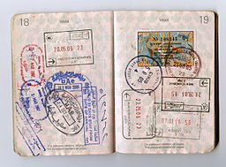Passport stamps 18-19