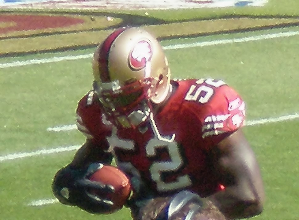 Patrick Willis on field pregame at Eagles at 49ers 10-12-08