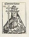 Paus Clemens VI Clemens sextus (titel op object) Liber Chronicarum (serietitel), RP-P-2016-49-70-1.jpg