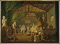 Pave Leo 12. aflægger besøg i Thorvaldsens værksteder ved Piazza Barberini, 18. oktober 1826.jpg
