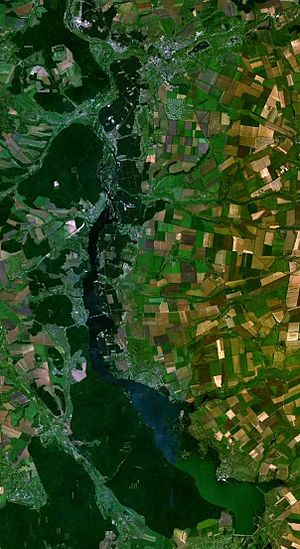Donets - View of the Pechenga Reservoir from space
