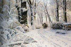 Peder Mørk Mønsted - Image: Peder Mørk Mønsted Wood in snow