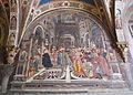 Pellegrinaio di santa maria della scala 04, domenico di bartolo celestino III concede privilegi di autonomia all'ospedale.JPG