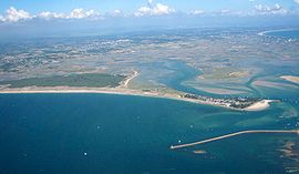 An aerial view of Pen-Bron, in La Turballe