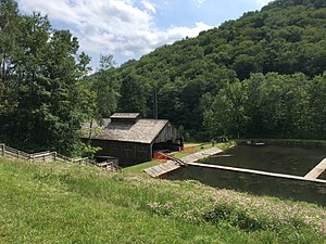Pennsylvania Lumber Museum - Saw mill and log pond