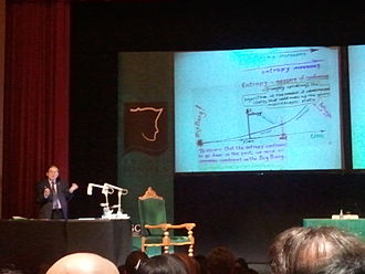 Roger Penrose - Roger Penrose in the University of Santiago de Compostela to receive the Fonseca Prize.