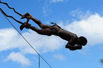 Bungee jumping - Land diving is a rite of passage for boys of the South Pacific island of Pentecost