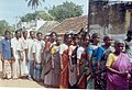 People line up to collect relief coupons from Government Officials of Pondicherry in Pulianchavadi near Pondicherry.jpg