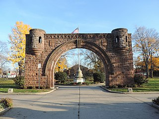 Pershing Field city park in Jersey City, New Jersey, United States