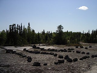 Petroform Human-made shapes and patterns of rocks placed on the ground