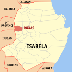 Map of Isabela with Roxas highlighted
