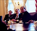 Phil Crane meets with George W. Bush and Bill Thomas.jpg