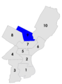 Philadelphia city council districts 1958.png