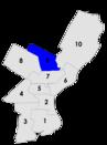 Philadelphia city council districts 1958.png