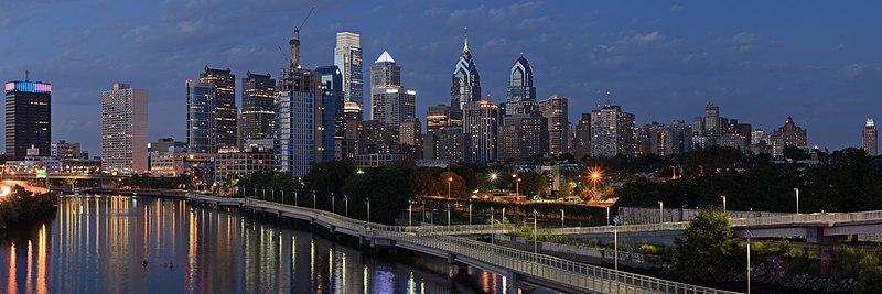 File:Philadelphia from South Street Bridge July 2016 panorama 3b.jpg