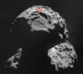 Philae position of first touchdown.png