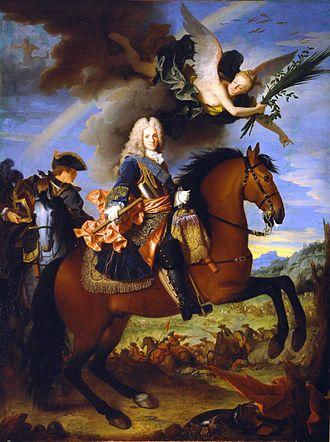 Spanish conquest of Sardinia - Equestrian portrait of Philip V of Spain