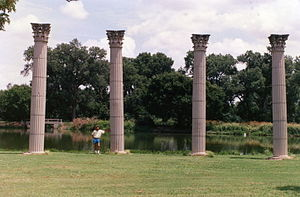 Phillips University - Pillars from the Sunken Gardens at Phillips University