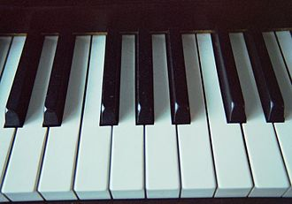 Tone cluster - The modern keyboard is designed for playing a diatonic scale on the white keys and a pentatonic scale on the black keys. Chromatic scales involve both. Three immediately adjacent keys produce a basic chromatic tone cluster.