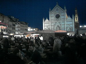 English: Piazza Santa Croce with german market...