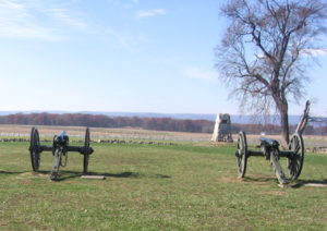 Joseph H. De Castro - Cannons representing Hancock's defenses, stormed by Pickett's Charge.