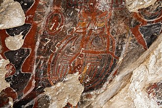 Painted Rock (San Luis Obispo County, California) - Pictograph at Painted Rock.