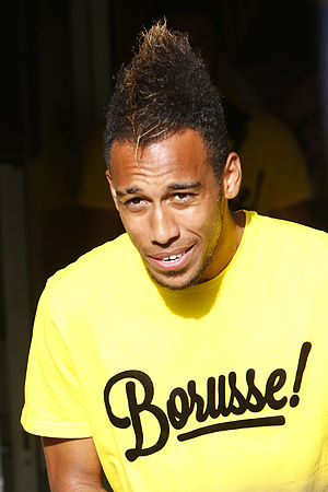 2015 DFB-Pokal Final - Pierre-Emerick Aubameyang scored four goals in Dortmund's run to the final, including their equaliser in the semi-finals
