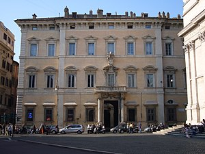 Altieri family - The Palazzo Altieri in Piazza del Gesù, Rome, commissioned by Giambattista Altieri and finished by Cardinal Paluzzo