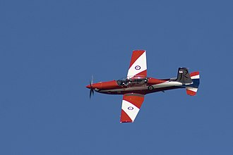 Central Flying School RAAF - PC-9 of the Roulettes aerobatic team, May 2012