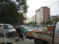 A street in Ping'an County