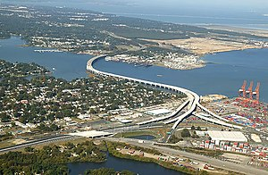 Pinners Point Interchange - Aerial photograph of the Pinners Point Interchange