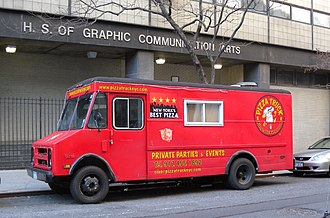 Food truck - A pizza truck in New York City, 2009