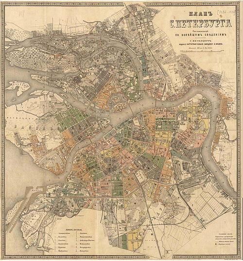 План Санкт-Петербурга с