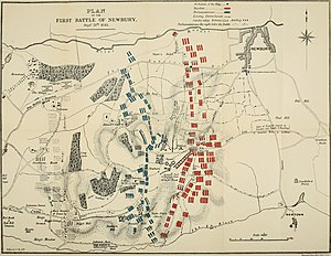 First Battle of Newbury - Plan of the battle