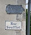 Plaque de la rue Soufflot et vieille plaque anti-mendicité (2).jpg