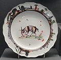 Plate, c. 1740, Meissen, hard-paste porcelain, overglaze enamels, gilding - Gardiner Museum, Toronto - DSC00921.JPG